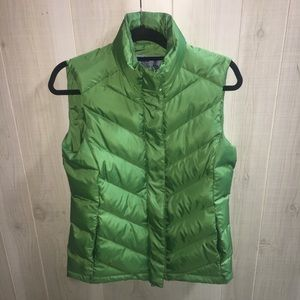 Brooks Brothers green down puffer vest